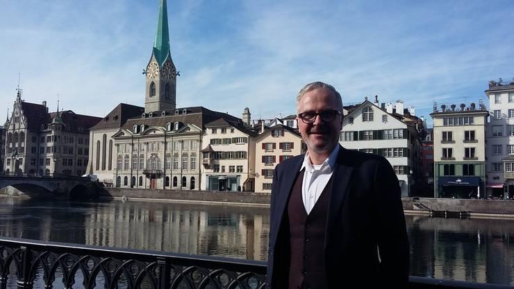 Bereit für den Wechsel in den Zürcher Stadtrat: GLP-Kantonsrat Andreas Hauri gestern nach einer kurzen Nacht.