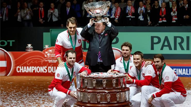 René Stammbach bejubelte vor einem Jahr mit dem Schweizer Team in Lille den Davis-Cup-Triumph. Jetzt will der Aargauer Präsident des internationalen Tennisverbandes werden.