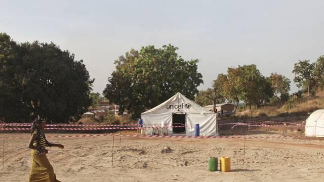 Ein Ebola-Zentrum an der malischen Grenze im November 2014