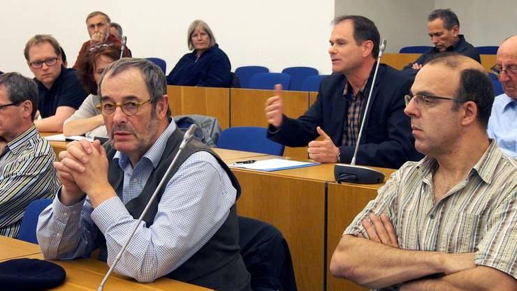 Peter Schafer bei seinem Votum pro Iris Schelbert.