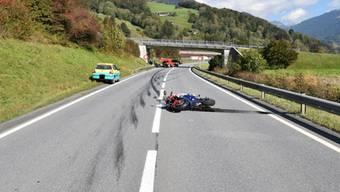 Für einen 58-jährigen Motorradfahrer kam nach einem Unfall in Grüsch GR jede Hilfe zu spät.