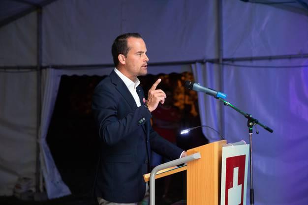 Gastredner Damian Müller, FDP-Ständerat des Kantons Luzern.