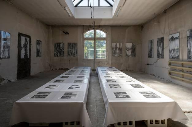 Diesen Raum mit den Zeichnungen aus Prag nennt Heidi Widmer «Kapelle».