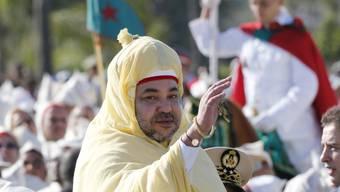 Der marokkanische König Mohammed VI. ruft seine Landsleute im Ausland zum Frieden auf. (Archivbild)