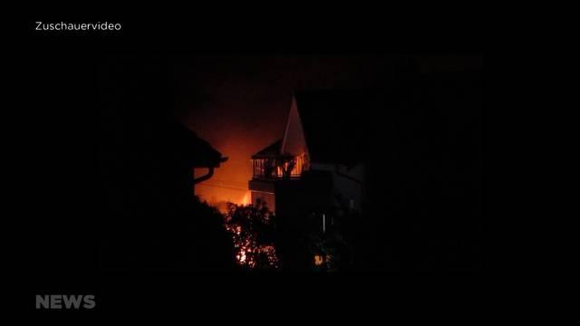 Burgdorf: Drei Autos, mehrere Fährräder und ein Motorrad abgebrannt