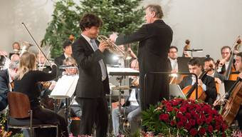 So rasant war Neujahr selten: Das Argovia Philharmonic mit dem Trompeter Immanuel Richter.