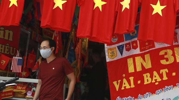 Nachdem im Vietnam fast 100 Tage lang keine lokalen Corona-Infektionen gemeldet wurden, gibt es nun einen neuen Corona-Ausbruch in der Stadt Da Nang. Foto: Hau Dinh/AP/dpa