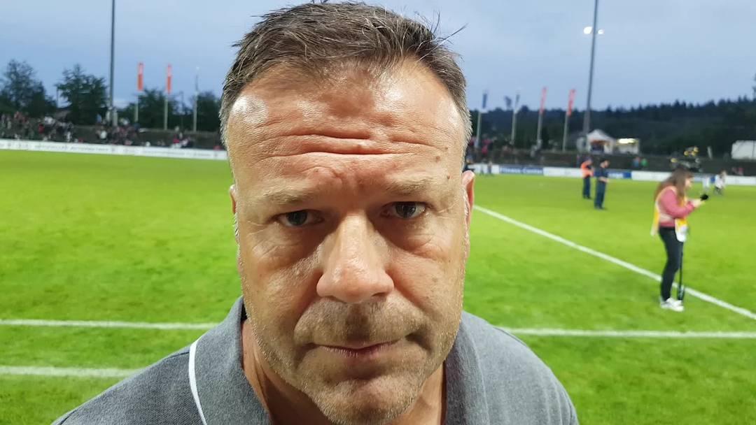 Trainer Patrick Rahmen im Interview nach Aarau-Kriens