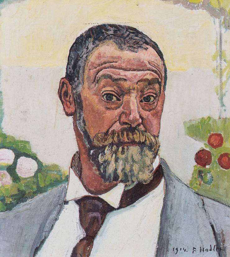 Ferdinand Hodler porträtierte sich oft. Schon als 18-Jähriger zeigte er sich als Maler. 1914 sehen wir ihn auf der Höhe seiner Karriere.