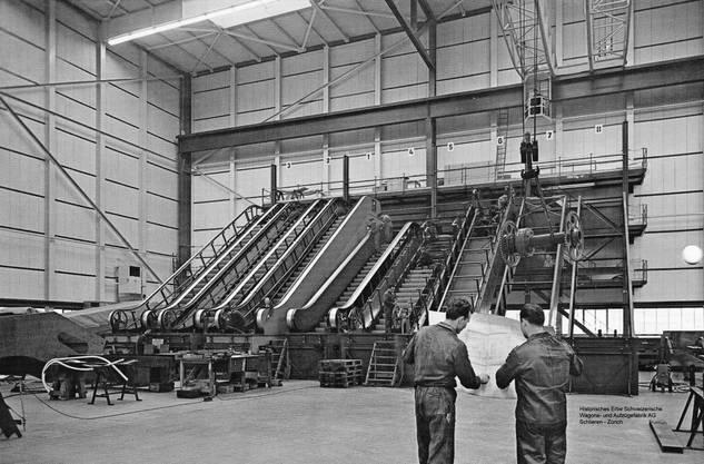 Schlieren war nach den zweiten Weltkrieg auch im Bereich des Rolltreppenbau ein gefestigter Name, Bild © SWS Museum Schlieren