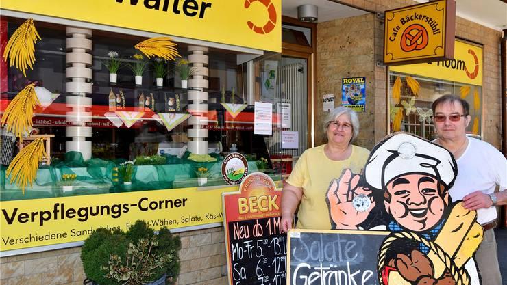 Heute Mittwoch zum letzten Mal geöffnet: Silvia und Günter Walter führten an der Oltnerstrasse Schönenwerds letzte gewerbliche Bäckerei.