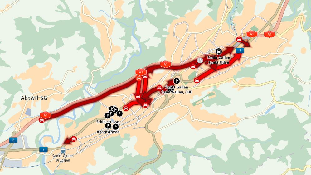 Verkehrschaos nach Crash auf Stadtautobahn