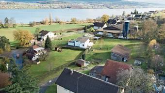 Der Boniswiler Ortsteil Alliswil: Der Bauernhof im Vordergrund soll der grossen Überbauung weichen.