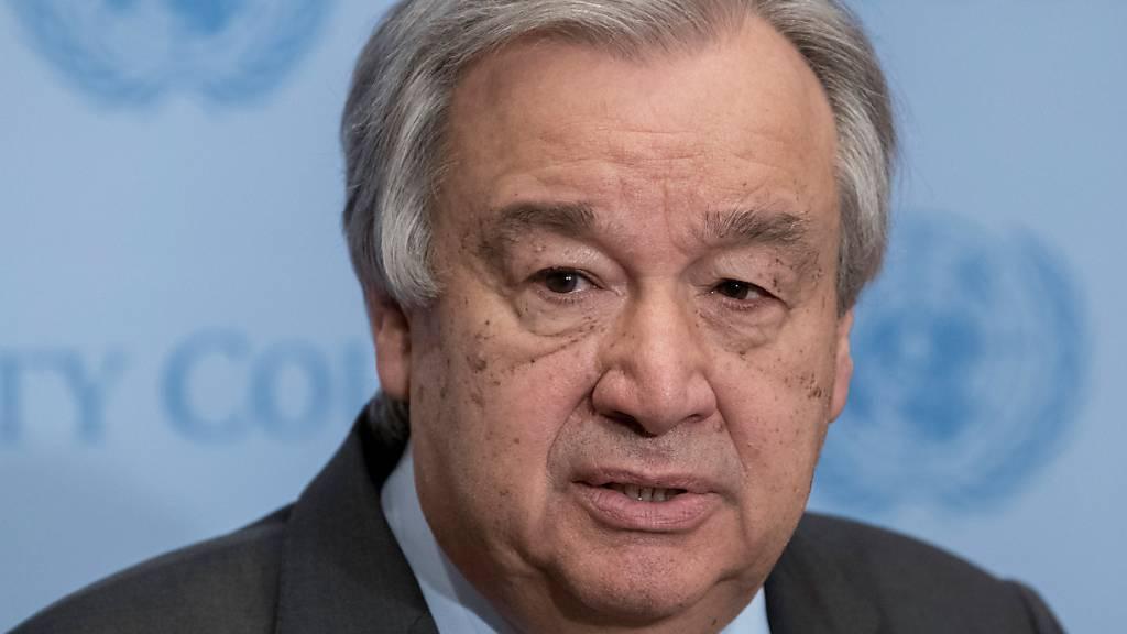 UN-Generalsekretär warnt vor humanitärer Katastrophe in Afghanistan