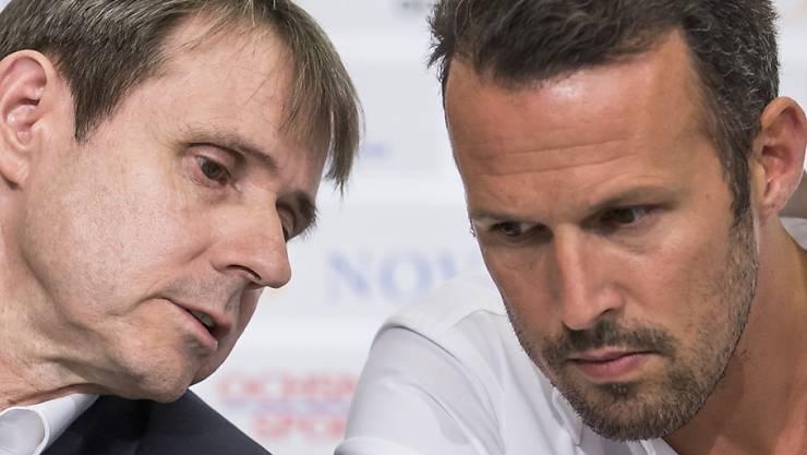 Die Krise ist da: FCB-Präsident Bernhard Burgener und Sportchef Marco Streller. Wird jetzt nach Wicky auch Streller gehen müssen?