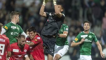 Raphael Spiegel beim Cupspiel zwischen dem FC Winterthur und dem FC St.Gallen im letzten September