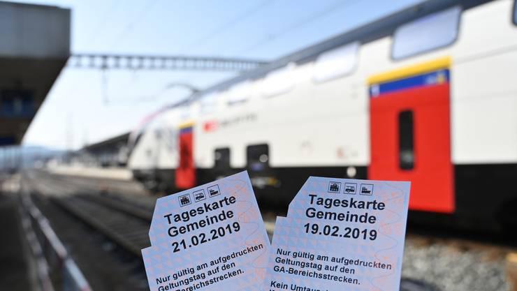 SBB-Tageskarten Tageskarte Gemeinde SBB Däniken Bahnreisen Tickets Bahnbillett