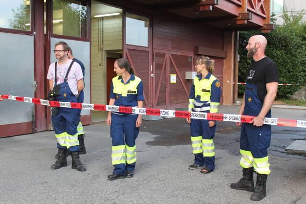 weitere Impressionen von der Übung der Feuerwehr Uitikon