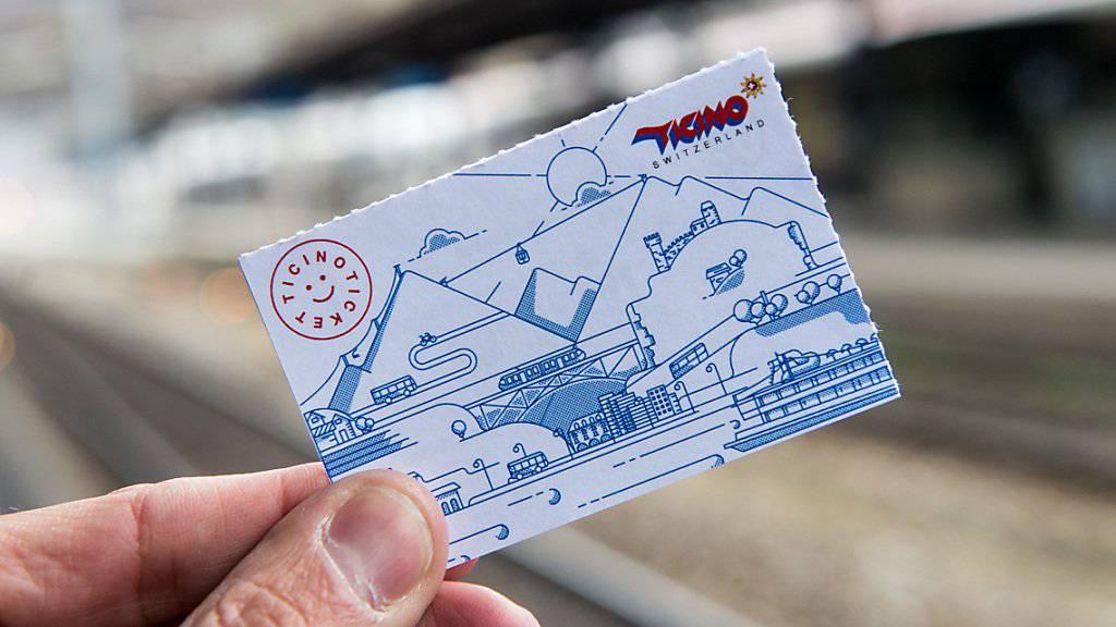 Seit 1. Januar haben bereits 24'000 Besucher ein Ticino Ticket ausgehändigt bekommen - es bietet freie Fahrt mit dem Öffentlichen Verkehr im gesamten Kanton.