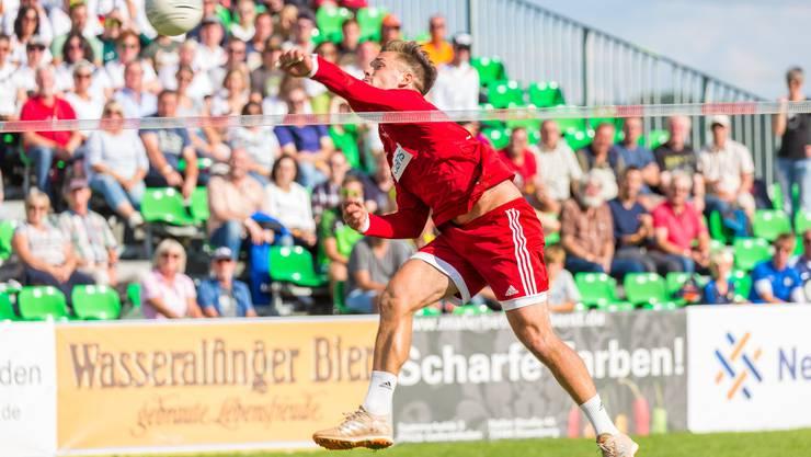 Raphael Schlattinger – hier im Dress der Nationalmannschaft – ist der einzige Schweizer, der in der deutschen Bundesliga spielt. Am European Cup wird er mit seinem Team aus Calw antreten.