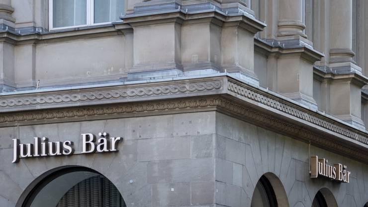 Die Gewinne der Bank Julius Bär waren in der ersten Jahreshälfte 2019 rückläufig. (Archivbild)
