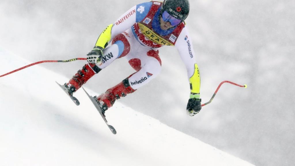 Mauro Caviezel riss sich Mitte Juni die linke Achillessehne, beim Comeback in Val d'Isère überzeugte er jedoch vollends
