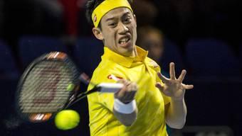 Kei Nishikori ist zum zweiten Mal im Halbfinal der Swiss Indoors