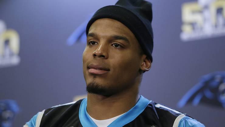 Will seine erste Super Bowl gewinnen: Carolinas Quarterback Cam Newton