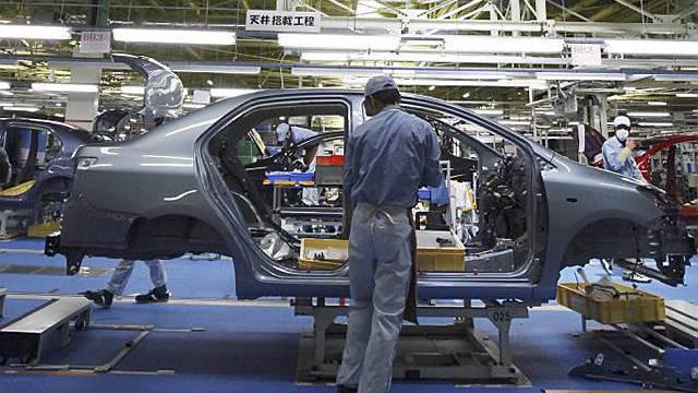 Produktion eines Yaris-Modells in Nordamerika