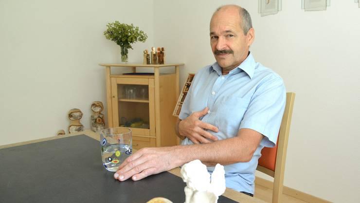 «Bin keiner, der vor der Kristallkugel sitzt»: Herbert Kunz in seiner Praxis in Hochwald.