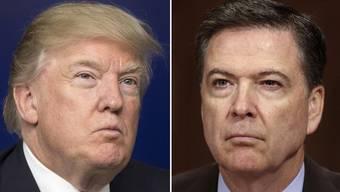 Ex-FBI Chef James Comey (r.) bestätigt in einem Statement, dass US-Präsident Trump ihn aufgefordert habe, die Ermittlungen gegen den ehemaligen Sicherheitsberater Flynn einzustellen.