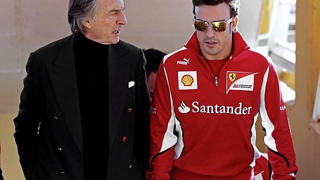 Di Montezemolo (links) bestätigt den Abgang Alonsos