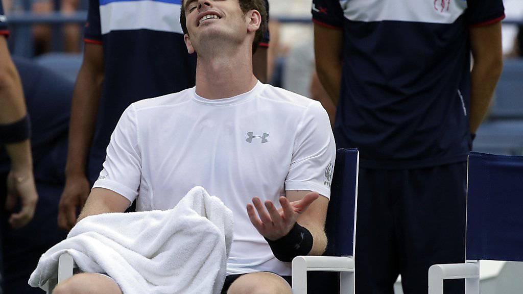 Andy Murray hatte auf dem Centre Court zu Leiden