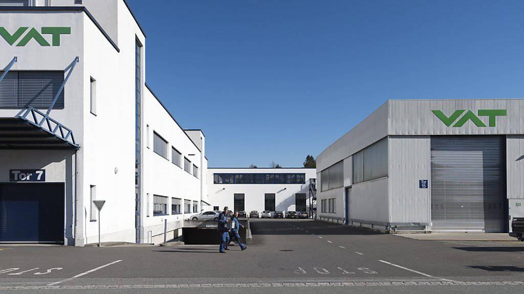 Blick auf den Hauptsitz der VAT Group im St. Gallischen  Haag: