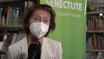 """""""Ab Alter 50 spricht nichts dagegen, sich impfen zu lassen"""", sagte alt Bundesrätin und Stiftungspräsidentin Eveline Widmer-Schlumpf am Dienstag vor den Medien."""