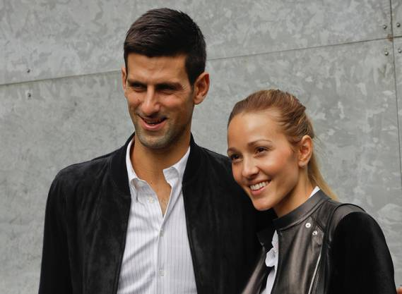 Novak und Jelena Djokovic.