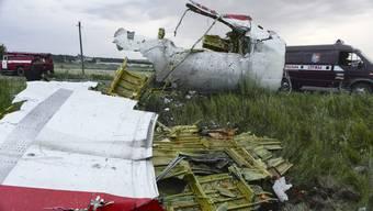 Trümmerteile der Unglücksmaschine MH17.