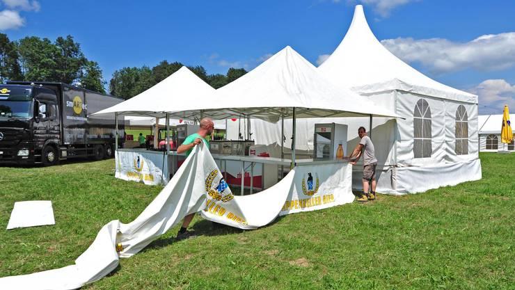 Die Vorbereitungen fürs Feelgood-Festival 2016 in Niedergösgen laufen auf Hochtouren