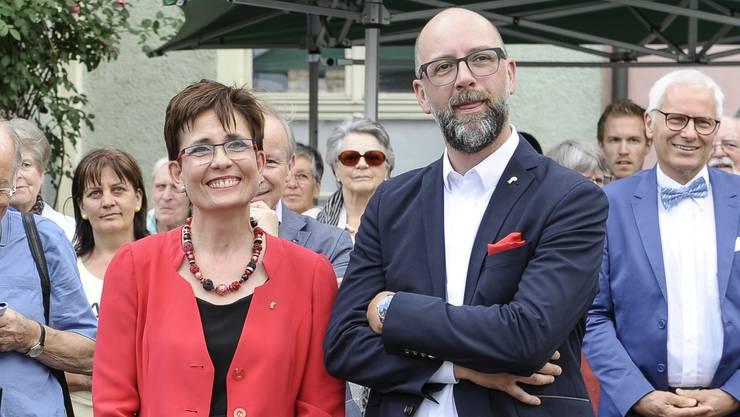 (Bild: Augstburger und Schoch am Ratspräsidentenfest 2017.)