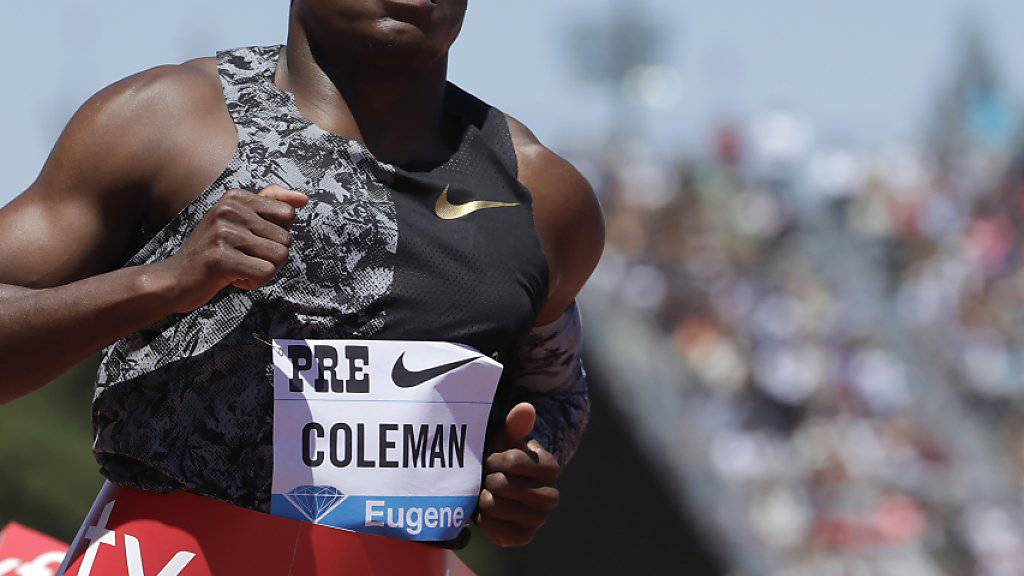 Christian Coleman muss um WM-Start bangen
