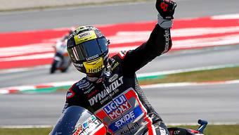 Grund zur Freude: Tom Lüthi ist neuer Leader in der Moto2-WM.