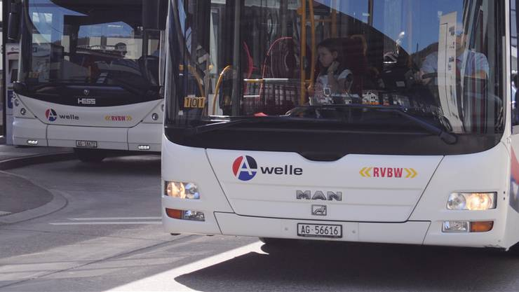 RVBW-Busse in Baden, Bahnhof West. (Symbolbild)