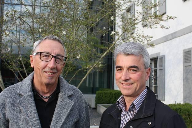 Bruno Wahl OK-Präsident Uniformen-Einweihung (links) und Thomas Rudin Präsident Uniformenkommission (rechts)