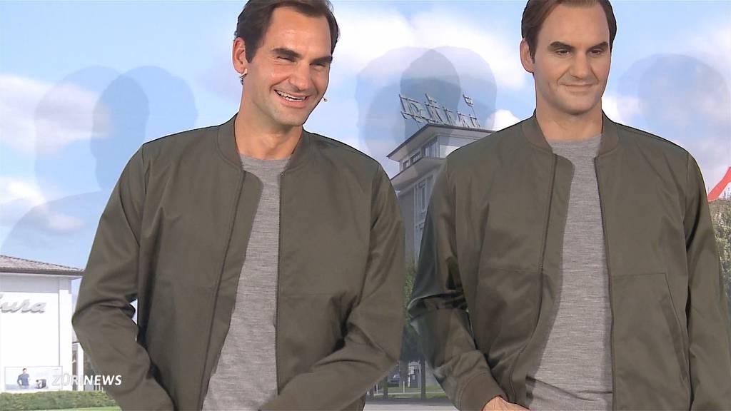 Roger Federer enthüllt seine eigene Wachsfigur