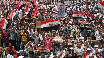 Bekannte Bilder, neue Proteste: Ägyptische Demonstranten auf dem Tahrir-Platz