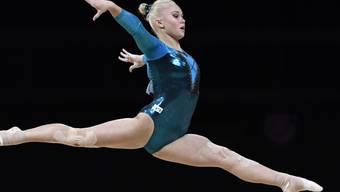 Angelina Melnikowa führte die russischen Kunstturnerinnen zum Sieg im Teamfinal