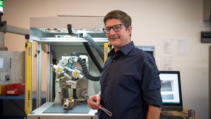 Martin Koller leitet die Geschäfte der Ulrich Swiss. Er setzt auf Innovation und Zusammenarbeit mit Spitälern.Bild: Adriana Ortiz Cardozo