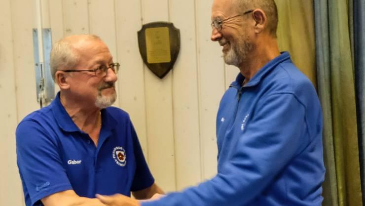 """der """"alte"""" und der neue Präsident des PC Trimbach."""