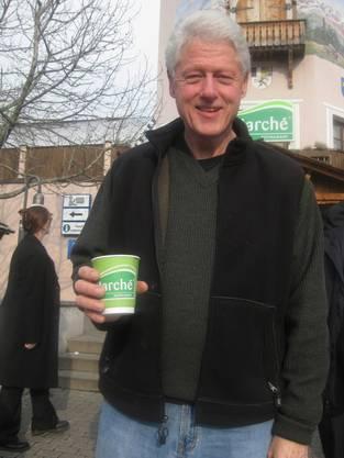 Den Ex-US-Präsidenten traf man 2010 an der Raststätte «Heidiland» an. Er war auf dem Weg zum Skifahren in Davos.
