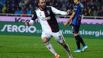 Gonzalo Higuain rettete Juventus Turin in Bergamo